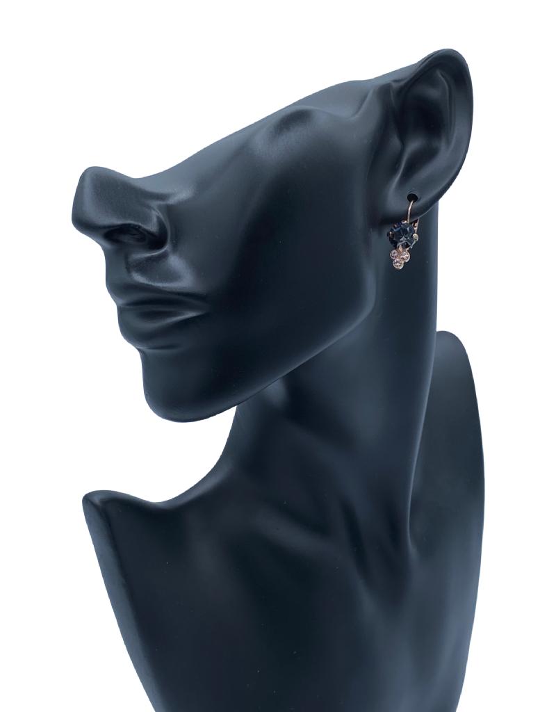 Mariana Boucles d'oreilles Mariana E-1010 Rose Gold/Charcoal 1073 RG6