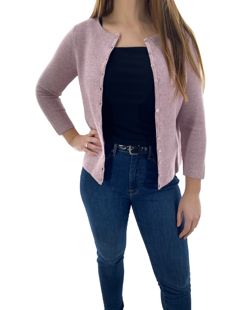 mansted Cardigan Boutonné à Col Rond mansted Monsoon