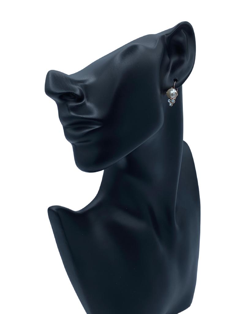 Mariana Boucles d'oreilles Mariana avec pierres E1010 Perle/Bleu/Gold 39361RG6