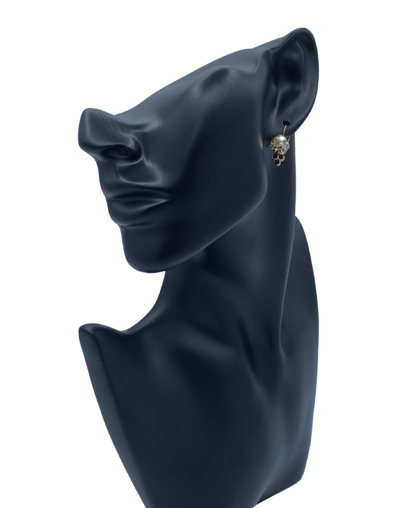 Mariana Boucles d'oreilles Mariana avec pierres E1010 Jaune/Noir/Gold 1094-RG6