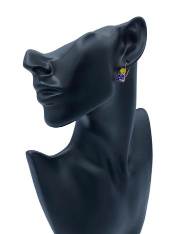 Mariana Boucles d'oreilles Mariana avec pierres E-1190 Mauve/Jaune/Gold 231539RG