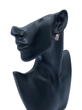 Mariana Boucles d'oreilles Mariana avec pierres E-1190 Rose/Blanc/Gold 112RG6