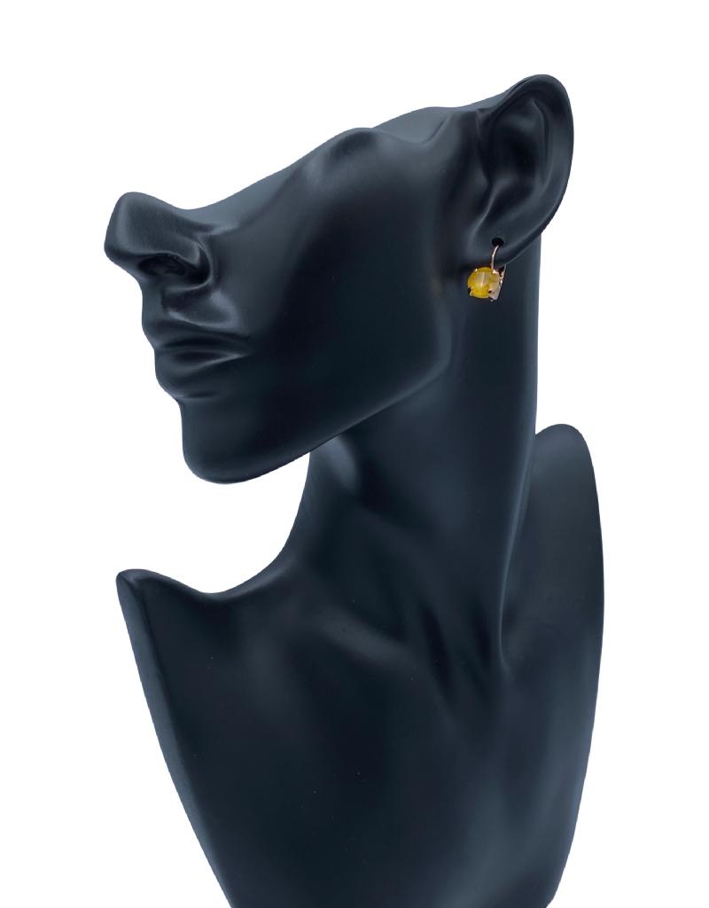 Mariana Boucles d'oreilles Mariana E-1440-CLIP avec pierres Jaune/Gold 124RG6