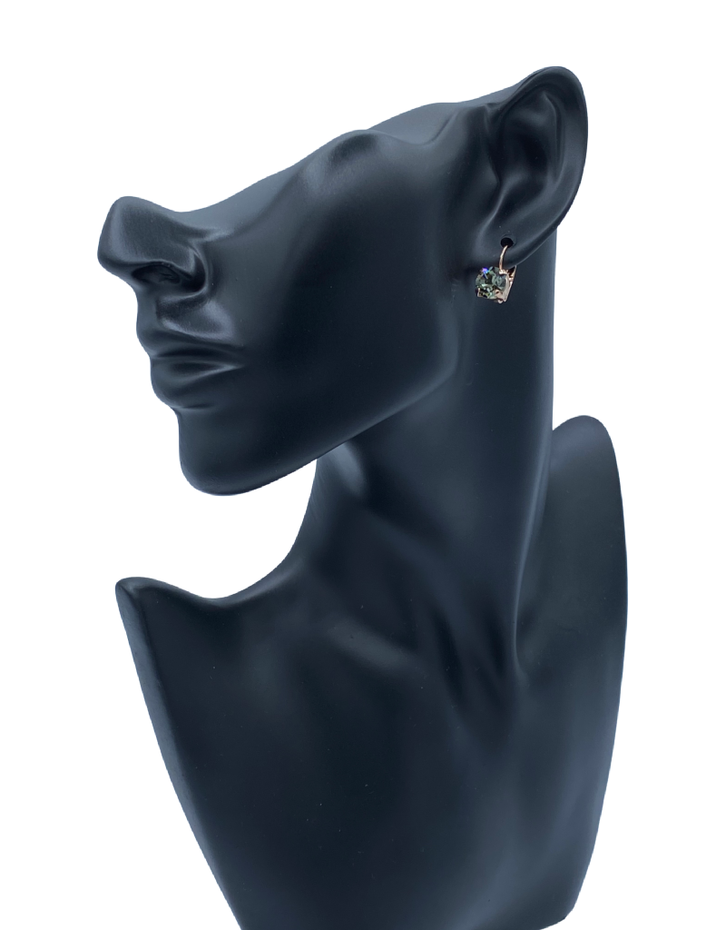 Mariana Boucles d'oreilles Mariana E-1440-CLIP avec pierres Vert Foret/Gold 215RG6