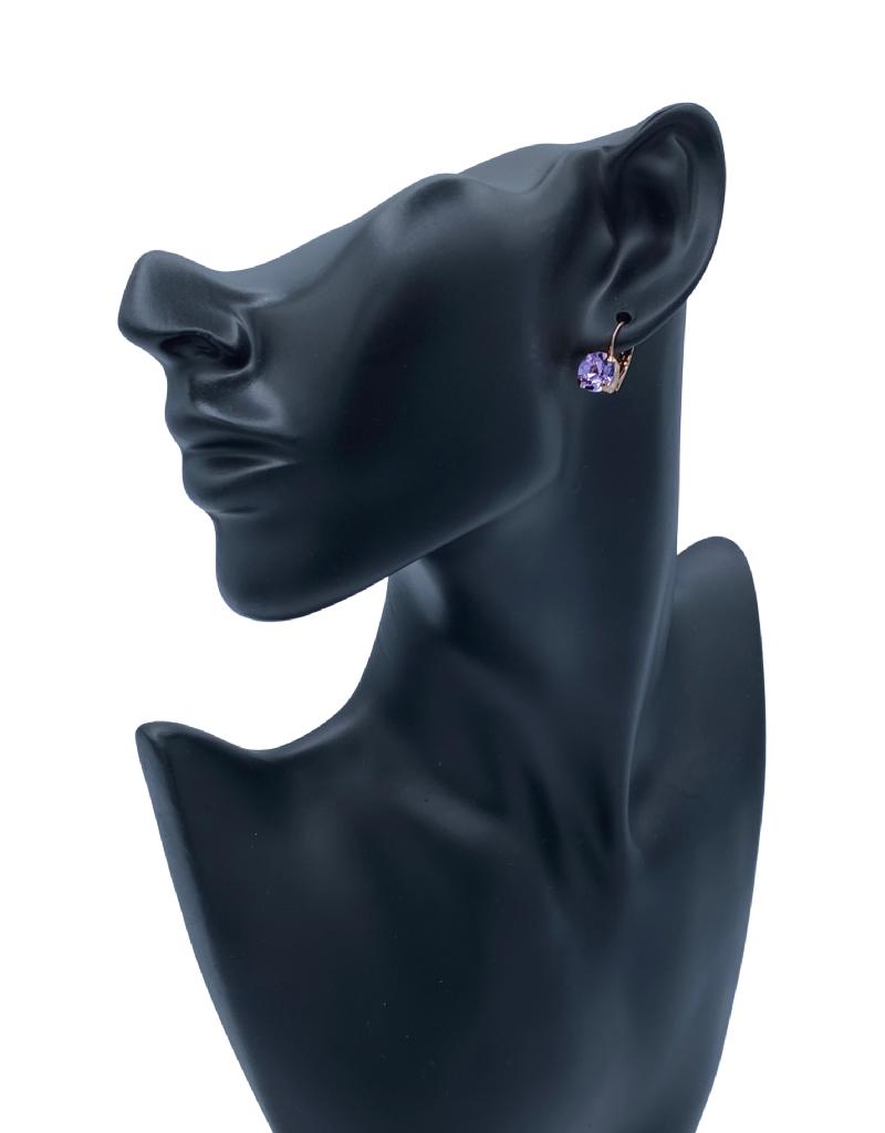 Mariana Boucles d'oreilles Mariana E-1440-CLIP avec pierres Lilas/Gold 371RG6