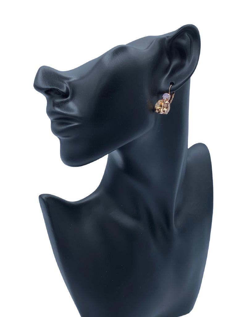 Mariana Boucles d'oreilles Mariana E-1037 My Treasures avec pierres Rose Gold/Rose/Gold 2333-RG6