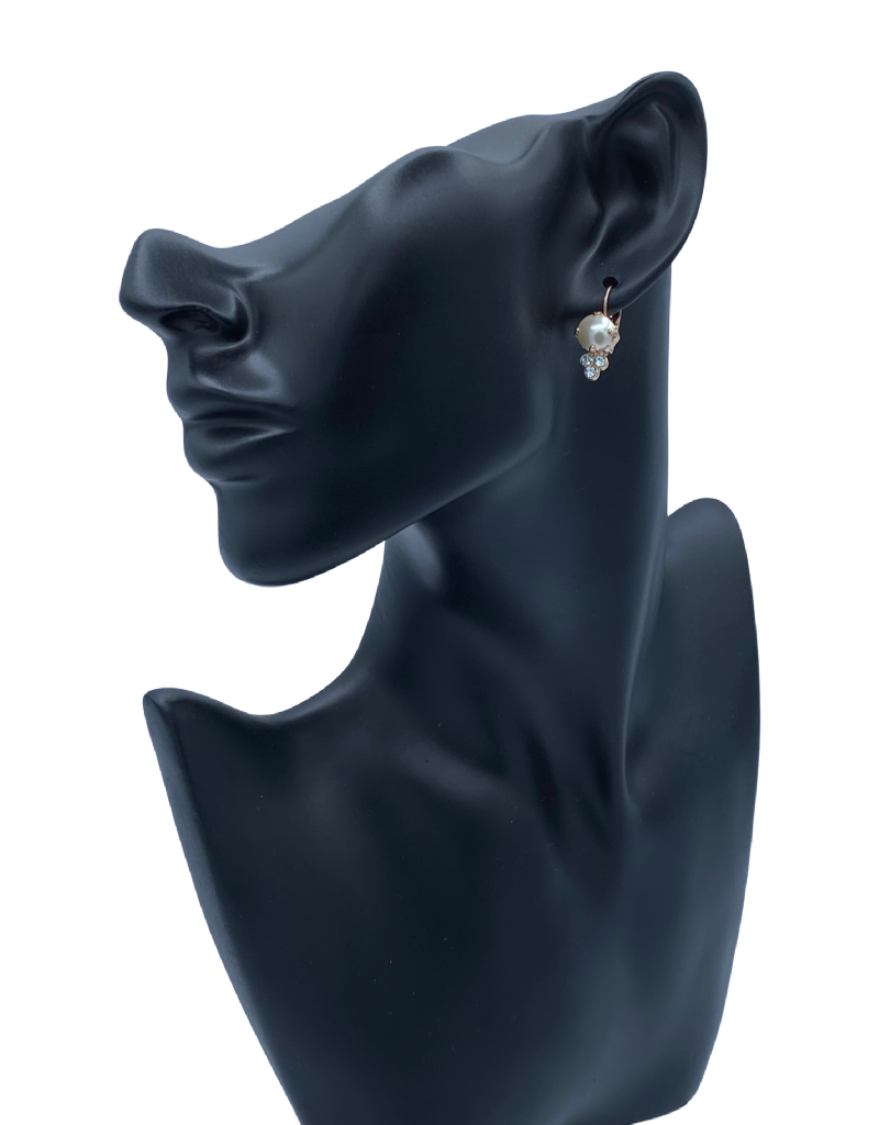 Mariana Boucles d'oreilles Mariana avec pierres E1010 Perle/Bleu pale/Gold 139001RG6