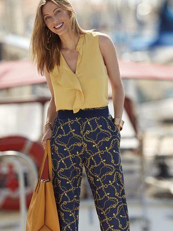 Janira Pantalon Loo Chains avec Poches en Viscose LG25150