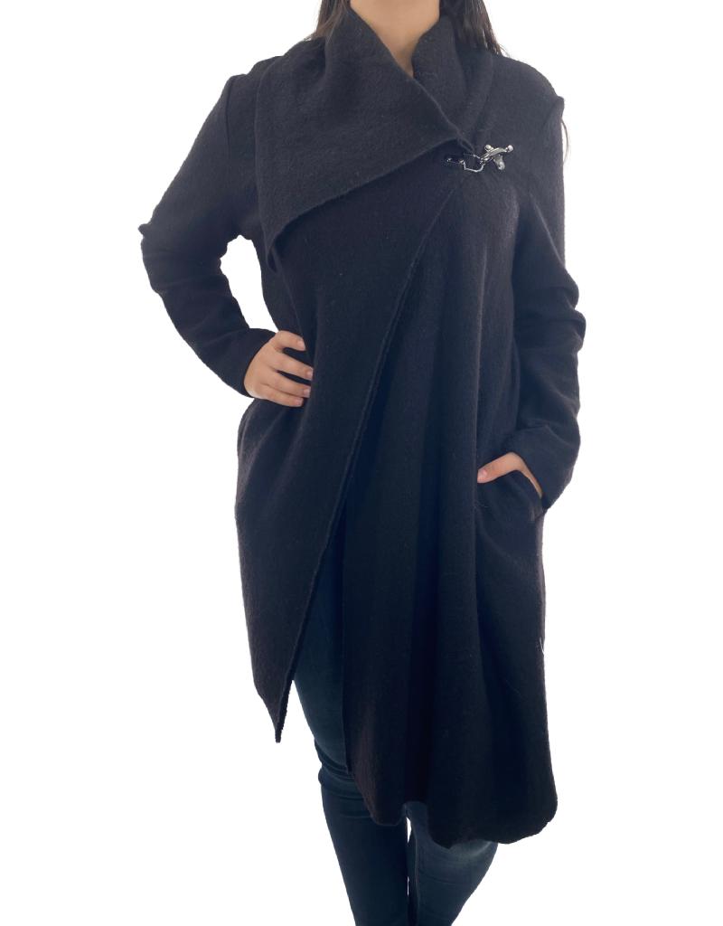 Jacket en Laine Carré Noir 2804