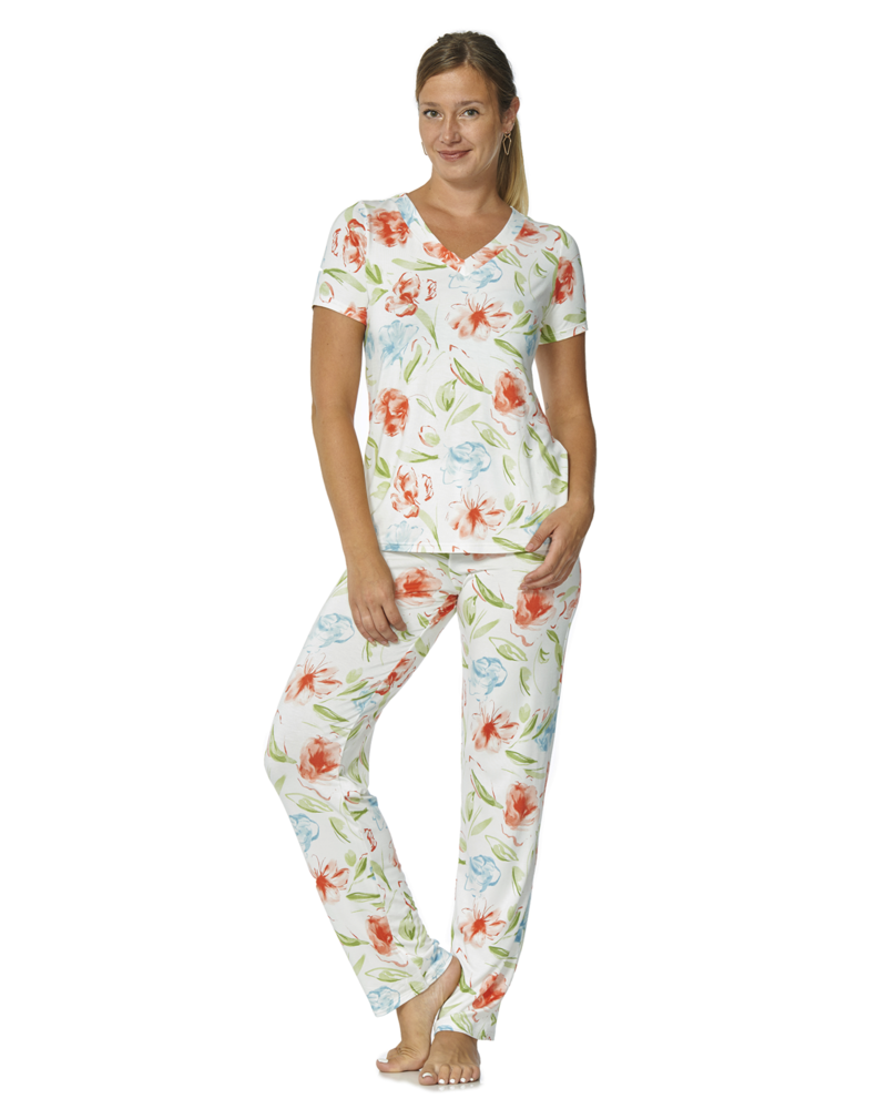Arianne T-Shirt à Col en V  avec Imprimé Floral Blossom Arianne 5092