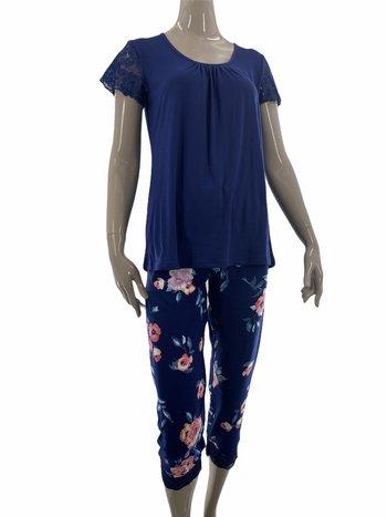 Patricia Lingerie Pyjama 2pcs Capri/T-Shirt Motif Floral Patricia 941-1