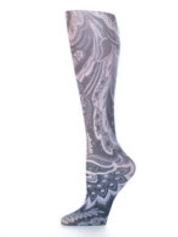 Celeste Stein Bas Cheville à Imprimé Celeste Stein Black Calypso 2216SS One Size