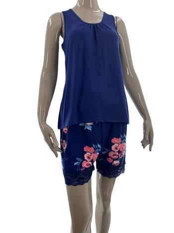Patricia Lingerie Pyjama 2pcs Boxer/Camisole Motif Floral Patricia 941-4