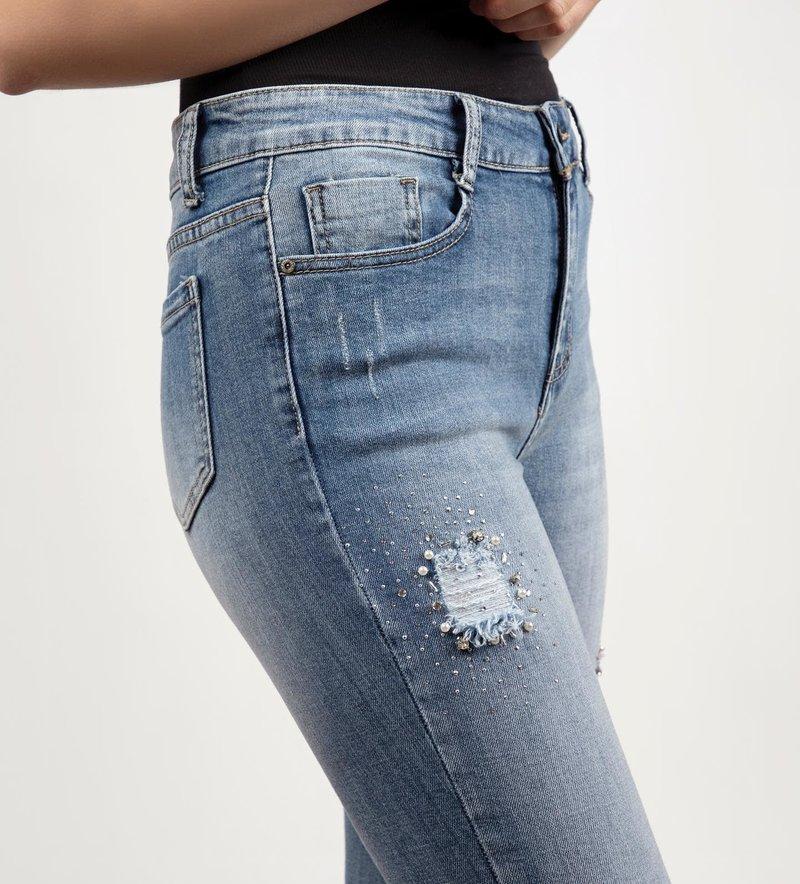 Alison Sheri Jeans Capri avec Détail de Perles et Brillants Alison Sheri A37123