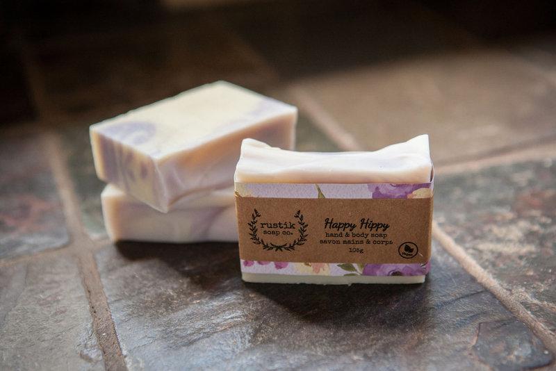 rustik soap co. Savon pour les Mains et le Corps Happy Hippy rustik soap co. 105g