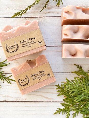 rustik soap co. Savon pour les Mains et le Corps Cèdre et Agrumes rustik soap co. 105g