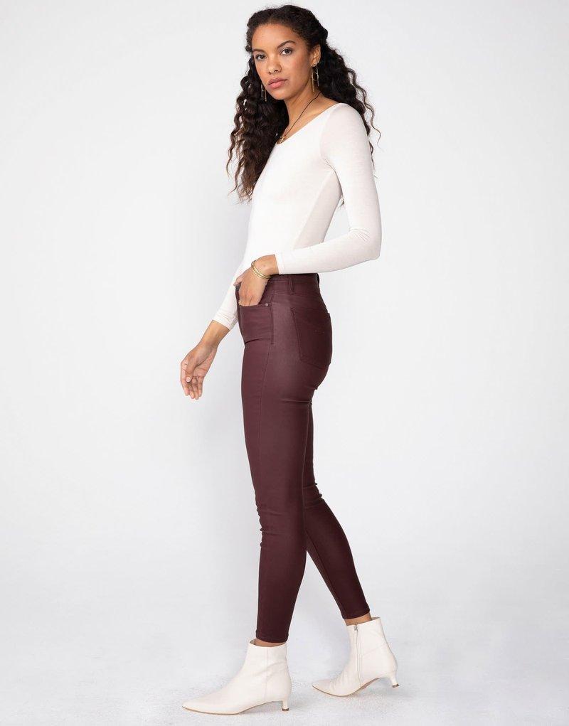 Unpublished Jeans Skinny à Taille Haute Effet Cuir Unpublished Olivia