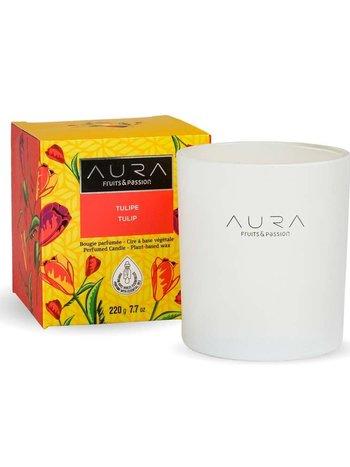 Fruits et Passion Bougie Parfumée AURA Tulipe 220g
