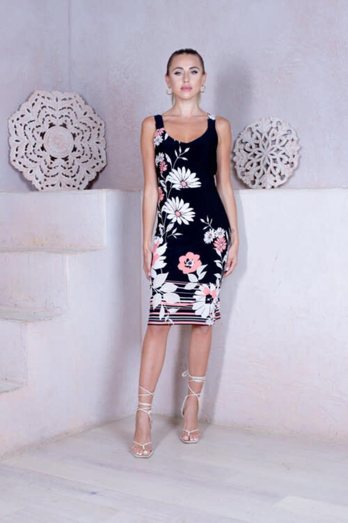 Artex Fashions Robe sans Manche à Imprimé Floral Artex 36-6185