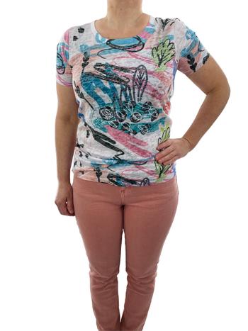 Coco Y Club T-Shirt à Imprimé Abstrait CYC 211-2042