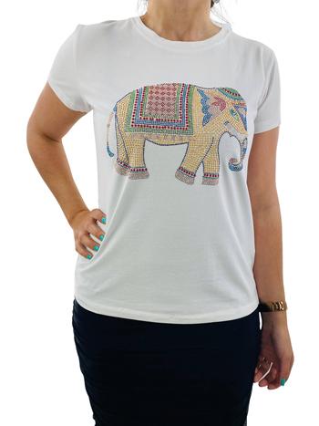 Leo & Ugo T-Shirt Col Rond Désign d'Éléphant Leo & Ugo TEK632
