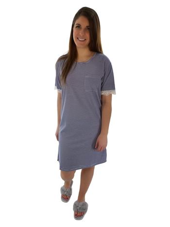 Comfort & Co. Chemise de Nuit Oversize T-Shirt à Rayures Claudel LI103031