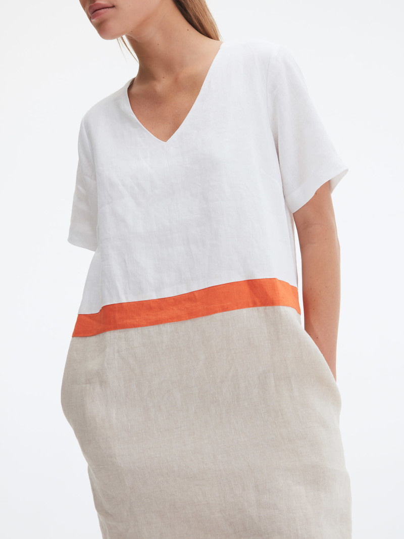 Uchuu Robe 100% Lin Color Block Uchuu CS21-012