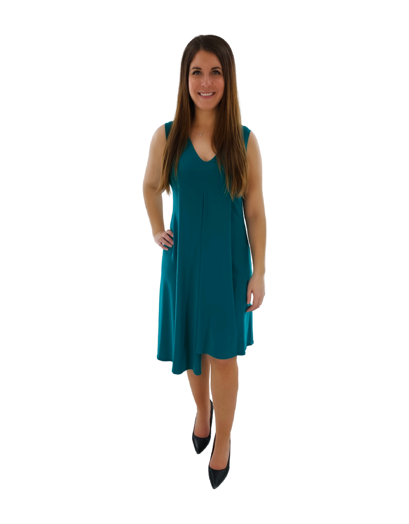 Artex Fashions Robe sans Manche à Col en V Artex 112-6021