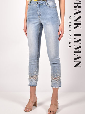 Frank Lyman Jeans à Détail Argenté au Bas Frank Lyman 211104U