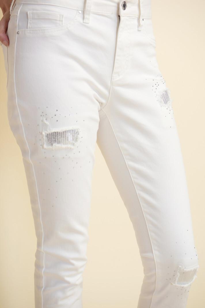 Joseph Ribkoff Jeans Cropped à Détail de Paillettes Joseph Ribkoff 211977