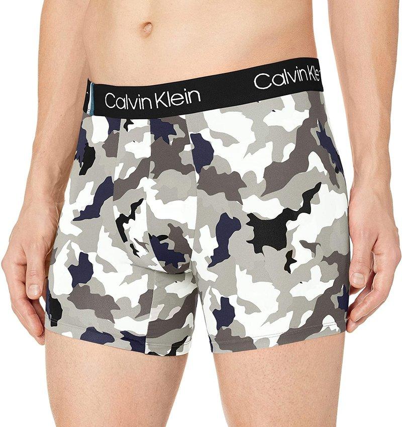 Boxer Ajusté Calvin Klein Motif Camouflage en Microfibre NB1889G