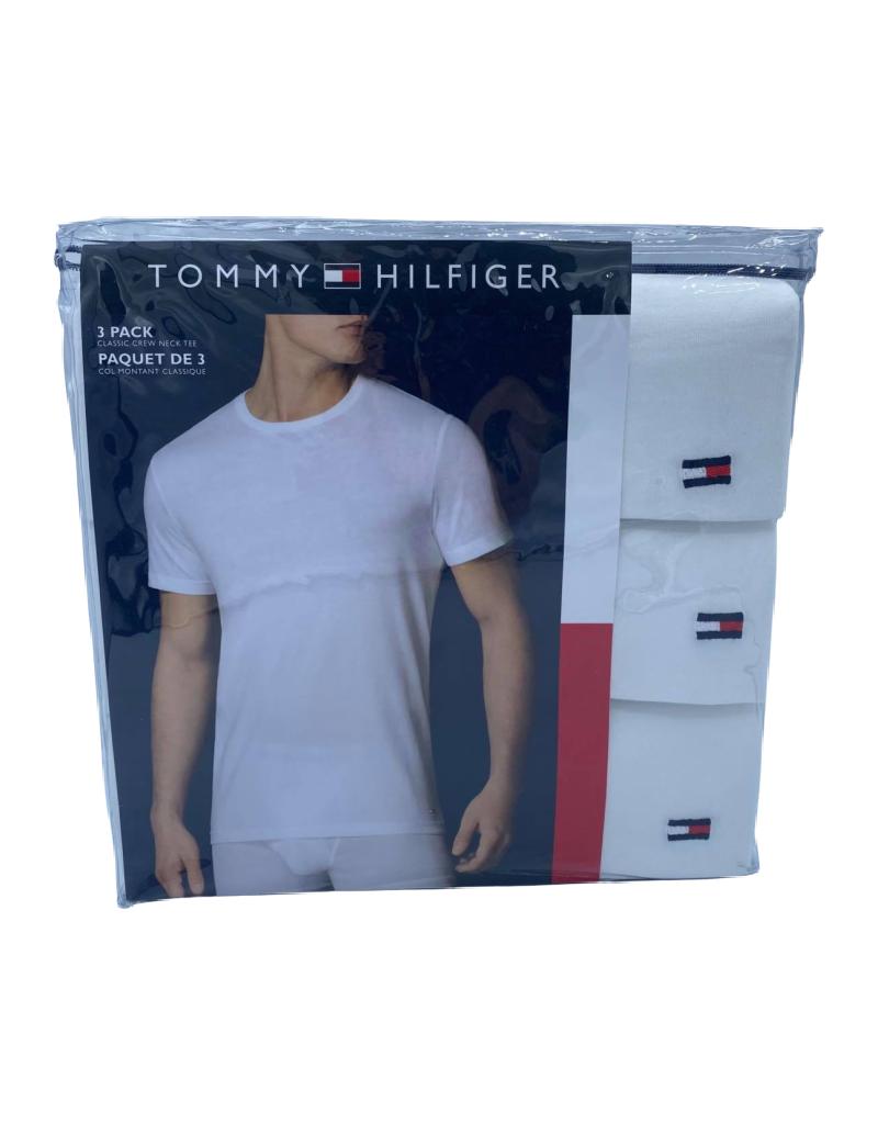 T-Shirt Col Rond Tommy Hillfiger Paquet de 3 en Coton HCTCR01