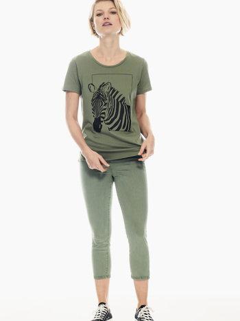 Garcia T-Shirt à Imprimé de Zèbre Garcia P00215
