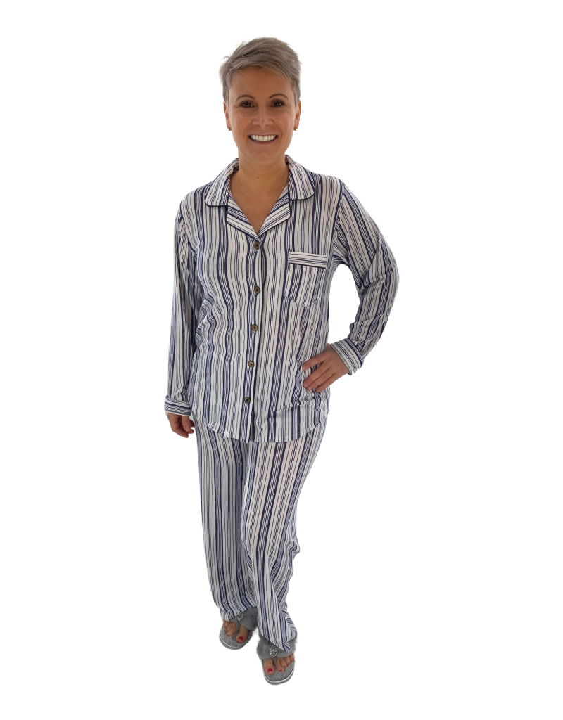 Claudel Pyjama à Rayures 2pcs Pantalon et Chemisier Claudel BA026790