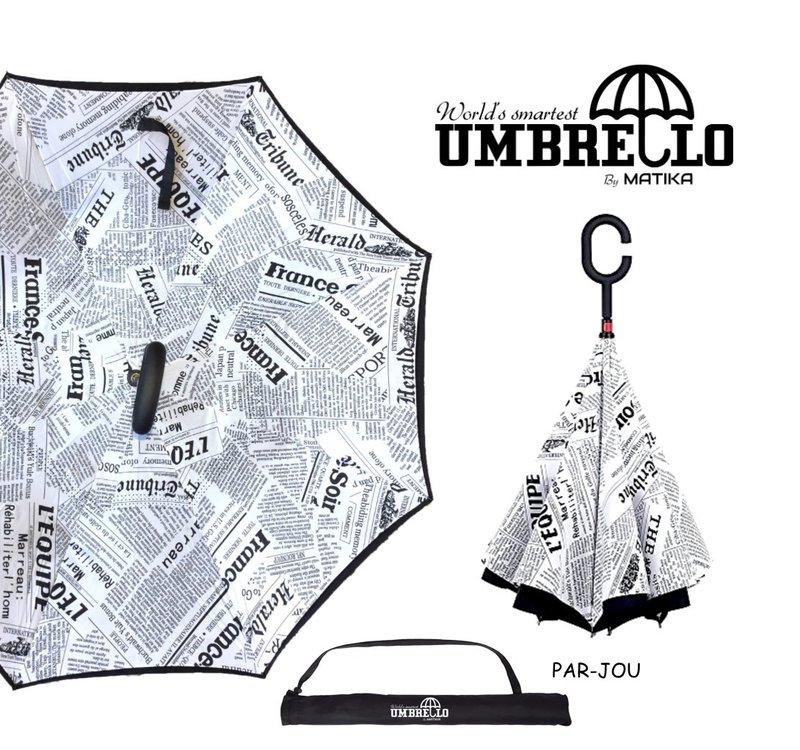 Parapluie Journaux Fond Blanc Umbrello PAR-JOU