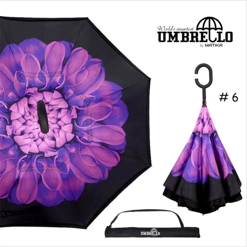 Parapluie Fleur Mauve Umbrello PAR-FLM