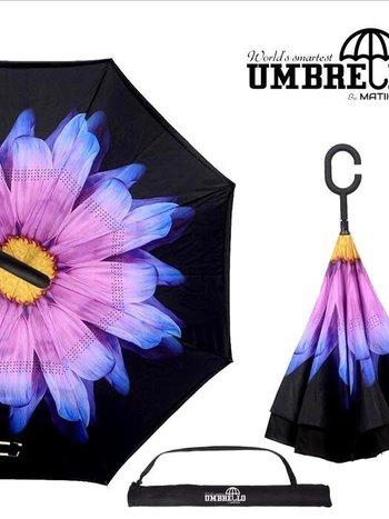 Parapluie Fleur Jaune/Mauve Umbrello PAR-FLG