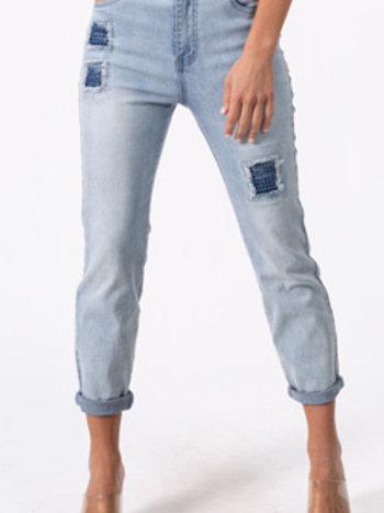 Coco Y Club Jeans avec Détail Patchwork et Brillants CYC 211-1951