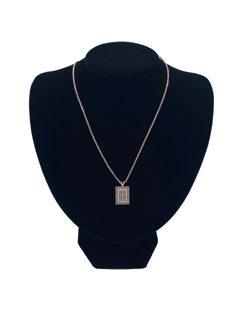 Mariana Collier Mariana N-5000/3 Pendentif Rectangulaire Gold/Perle 39111 RG