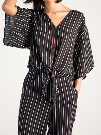 Airoldi Couture Chemise à Manches Courtes Nouée à l'Avant Airoldi Couture P21S8084