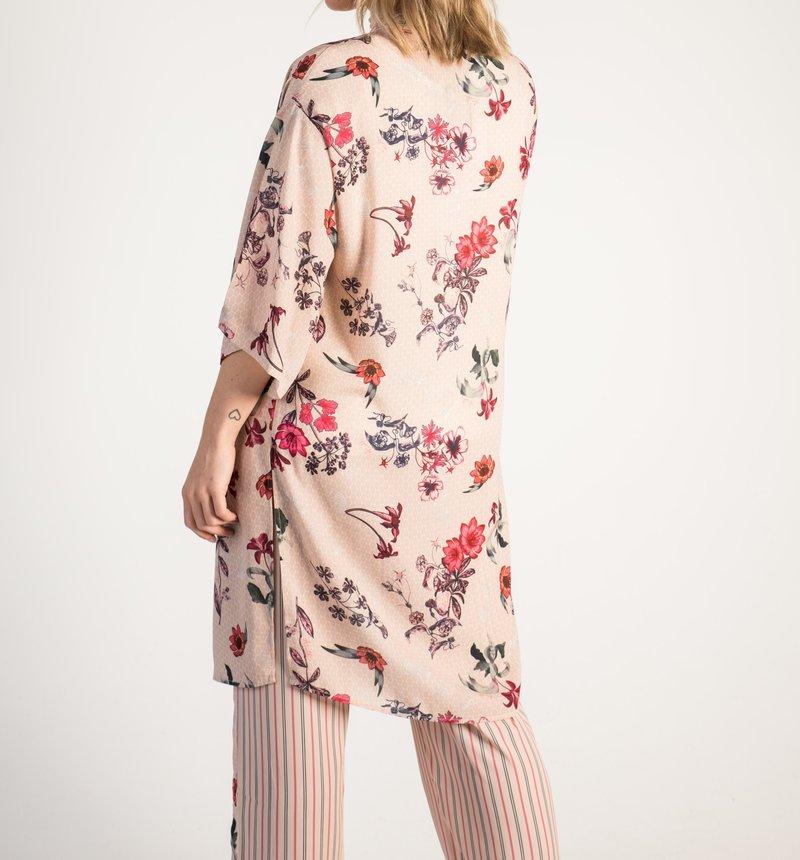 Airoldi Couture Kimono Motifs Fleuris et Rayures Airoldi Couture P21S8083