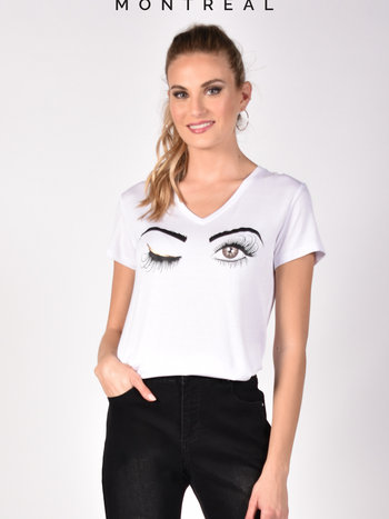 Frank Lyman T-Shirt Clin d'Oeil à Col en V Frank Lyman 211130U