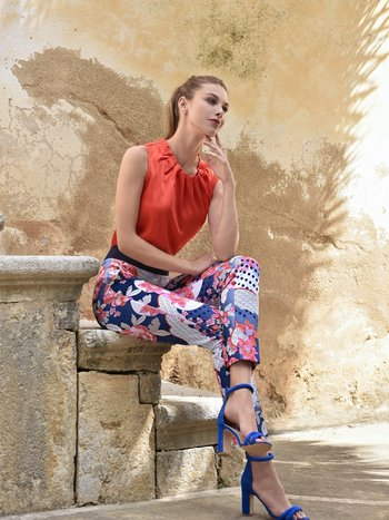 ROBELL Pantalon ROBELL Motifs Taille Élastique Confo Denise 52471