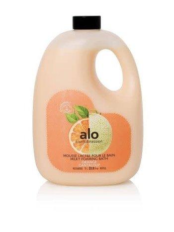 Fruits et Passion Recharge Mousse Lactée pour le Bain alo Orange Cantaloup 1L