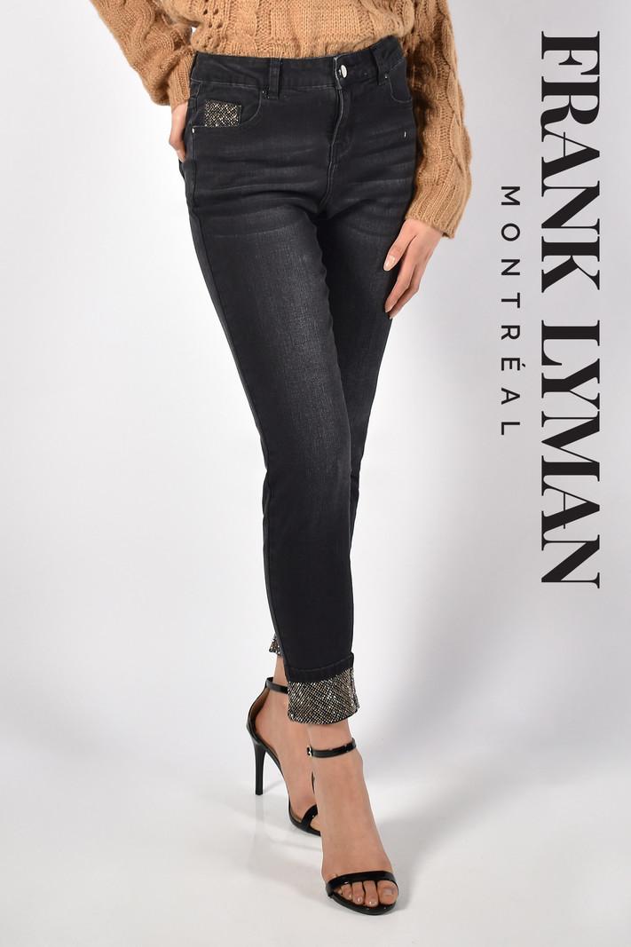 Frank Lyman Jeans à Paillettes Dorées sur Poche et Ourlet Frank Lyman 213127U
