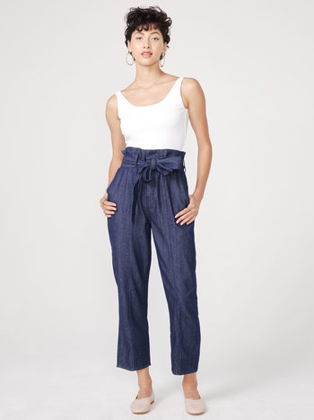 Unpublished Jeans Taille Haute Paperbag Unpublished Kindra