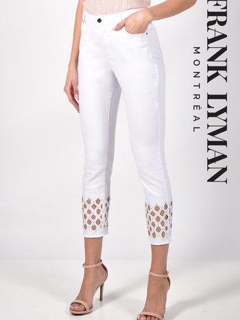 Frank Lyman Jeans à Détail de Découpe et Paillettes Frank Lyman 211112U