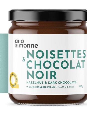 allo simonne Tartinade Noisettes & Chocolat Noir allo simonne