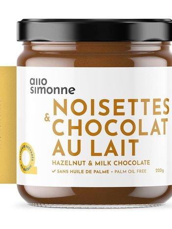 allo simonne Tartinade Noisettes & Chocolat au Lait allo simonne