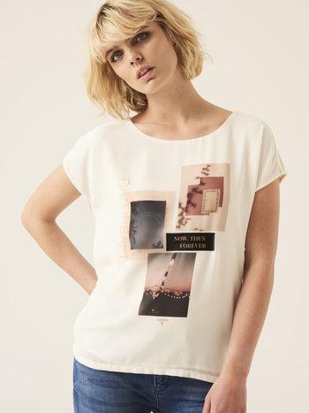 Garcia T-Shirt à Imprimé et Écritures Garcia G10004